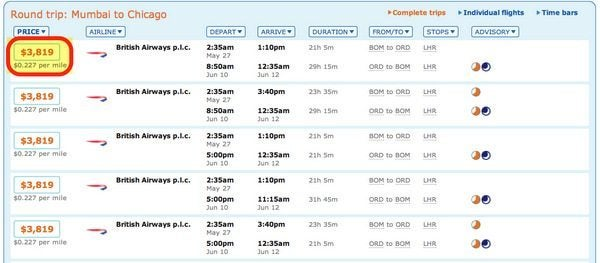 Should I buy US Air miles for business class to India
