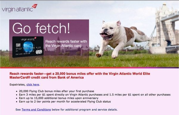 Credit Card Updates:  25,000 Virgin Atlantic Miles, 50,000 Southwest Points, & More…