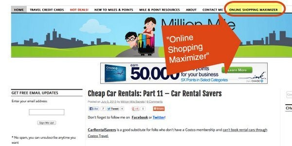 Cashback Portals Now On The Million Mile Secrets Maximizer
