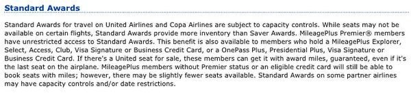 United Award Cost Fees