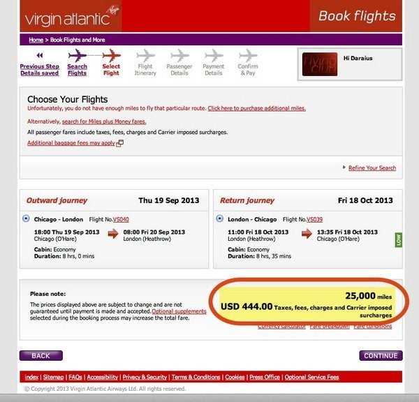 discounted virgin atlantic awards
