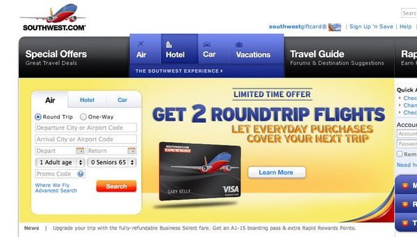 southwest 50000 points companion pass