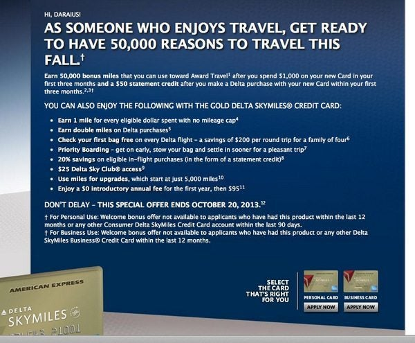 Southwest 50,000 Point Card is Back!  (Expired) And (Targeted) 50,000 Mile Delta Card!