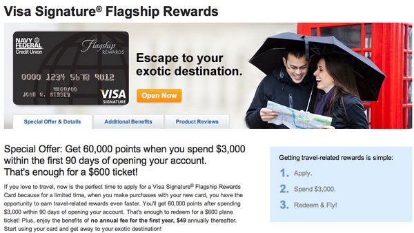 60000 Points Navy Federal Credit Union Visa