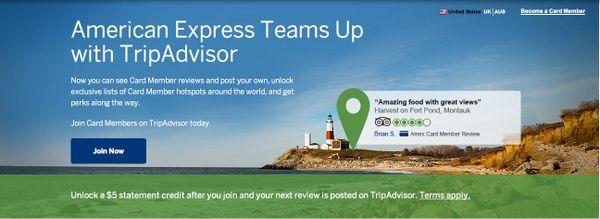 American Express Statement Credit TripAdvisor