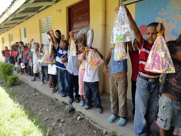 Children At The CODR Kids Camp With The Gift Bags