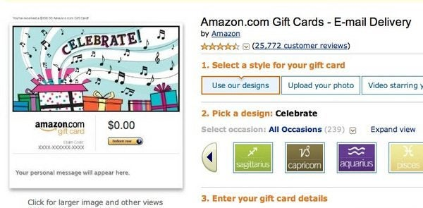 Amazon Sells Gift Cards to Lots of Other Stores! | Million