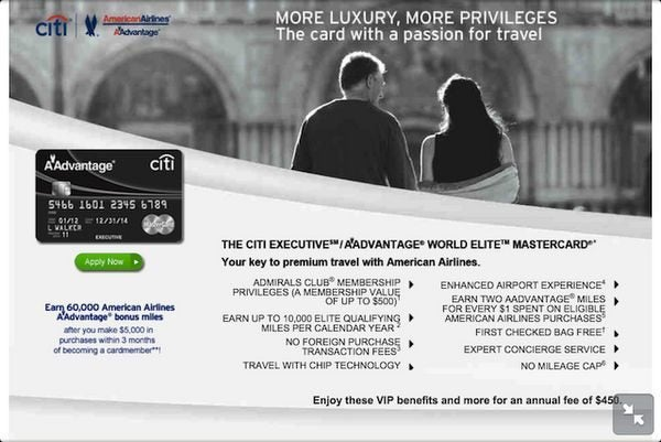 Citi American Airlines Executive