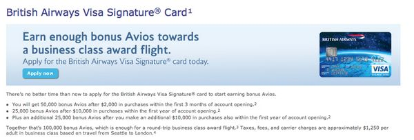 100,000 Points British Airways Card Is Back