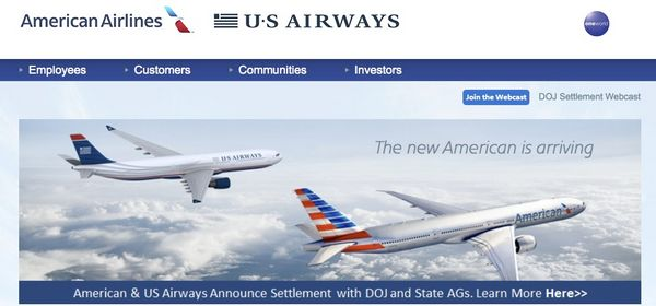 Us Air Acquire American Airlines