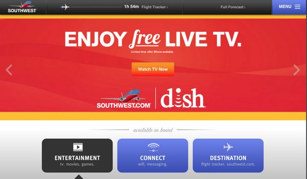 Watch Free TV on Southwest!
