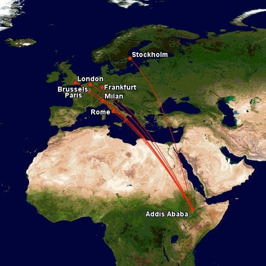 United Miles To Africa