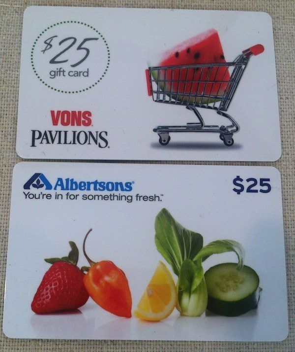 Vons and Albertsons gift cards | Million Mile Secrets