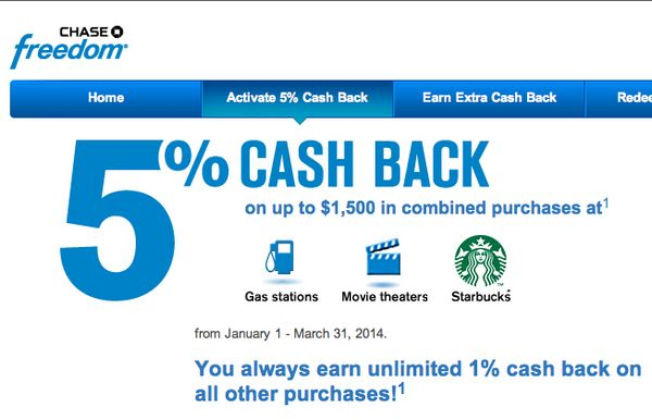 5X Ultimate Rewards Points Or 5% Cash Back On Gas, Movies And Coffee