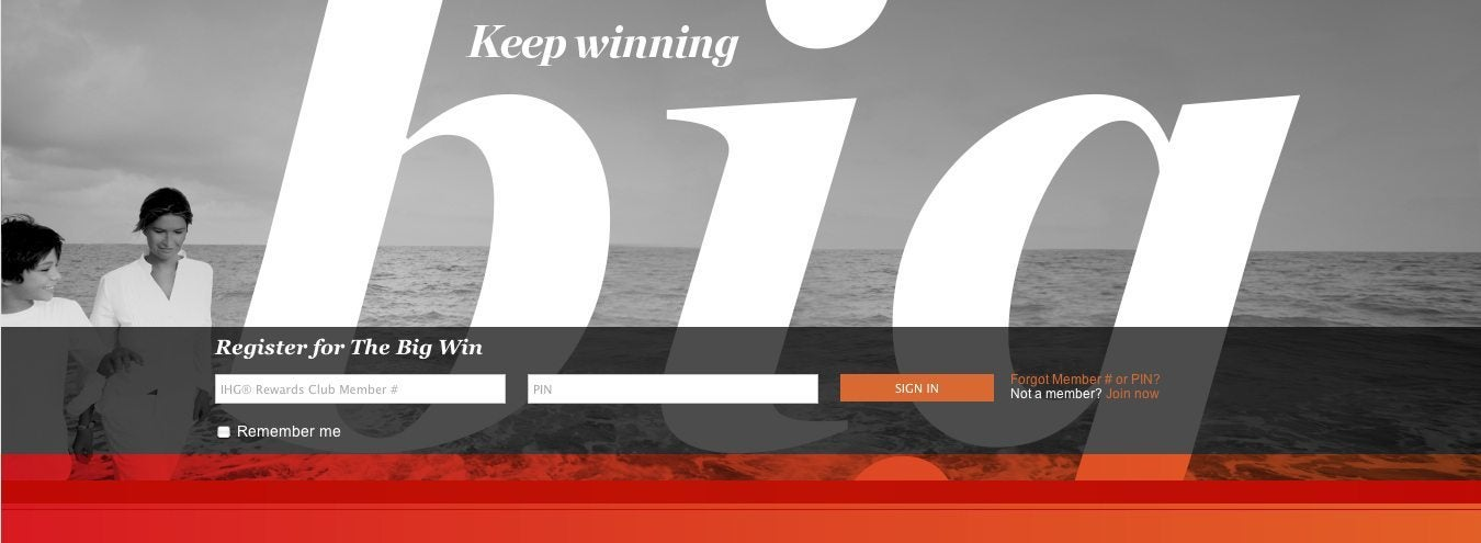 "IHG's ""The Big Win"" Promotion is Back!"
