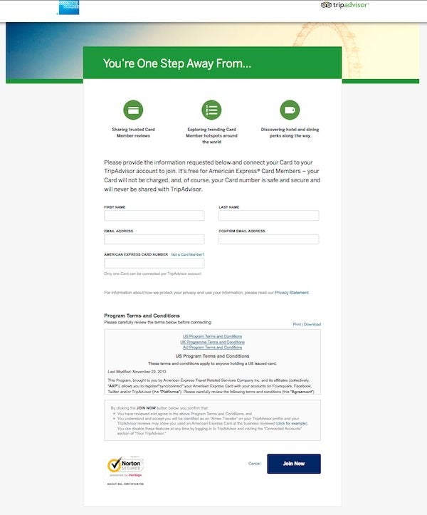 LinkAmextoTripAdvisor