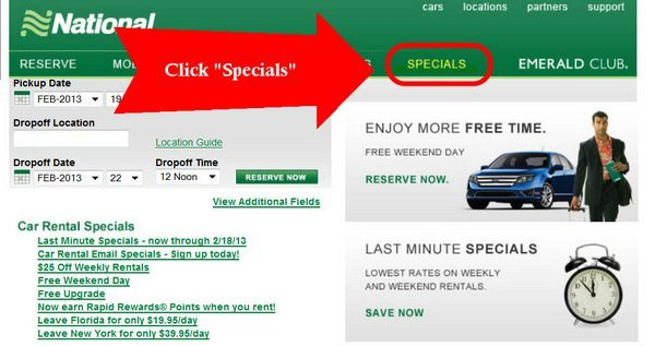 National Last Minute Specials