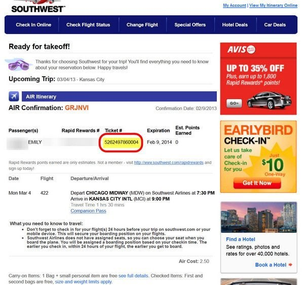 Southwest Companion Pass Booking 6