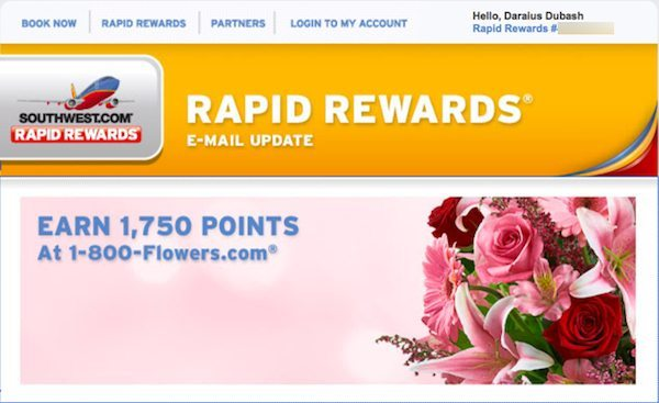 Southwest Flowers 1,750 Points
