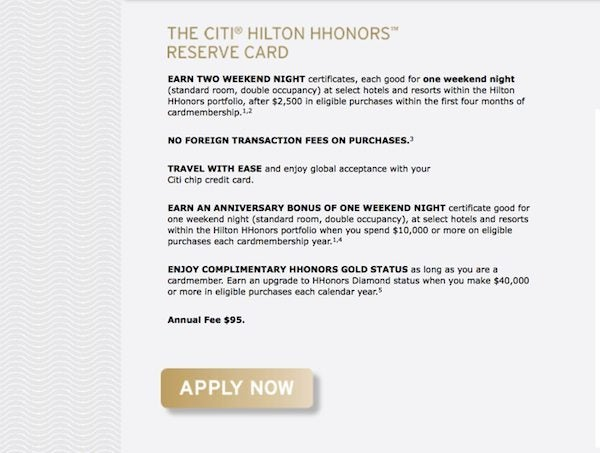 When Do I Get The Free Weekend Night Certificate On The Citi Hilton Reserve Card