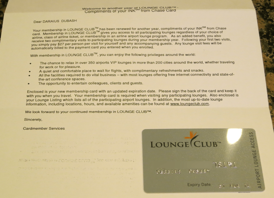 How to Enter Airport Lounges With the Chase Ink Cards [Expired ...