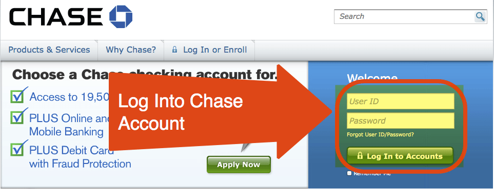 Ken Can Access Blueprint From His Chase Account
