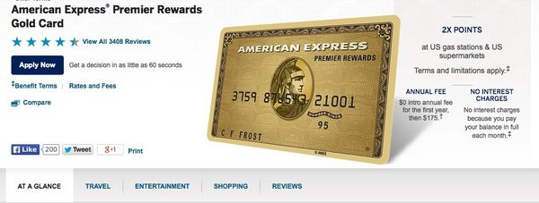 Don't Use Our Link & Get 5,000 Extra Points for Referring the American Express Starwood & Premier Rewards Gold Card!