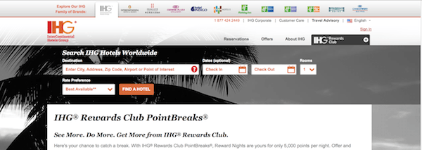 Only 5 000 Points 35 Per Night For Select Ihg Hotels