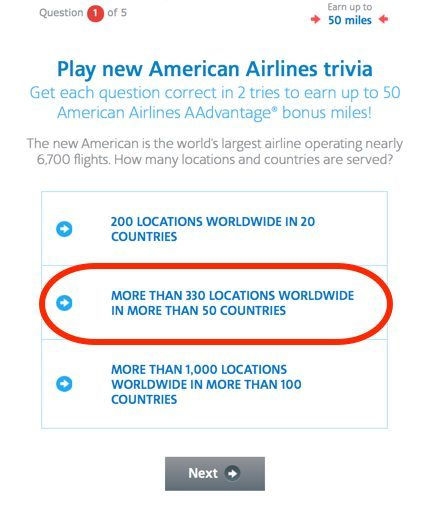 AmericanAirlinesTriviaQuestion1