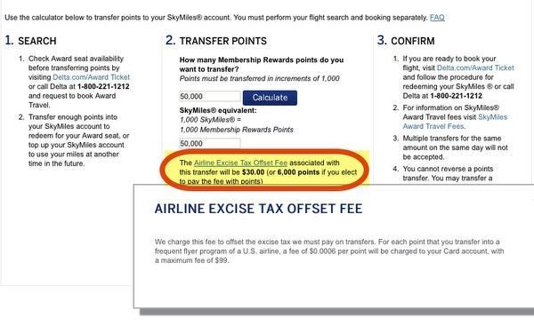 Do You Pay A Fee To Transfer American Express Membership Rewards Points To An Airline