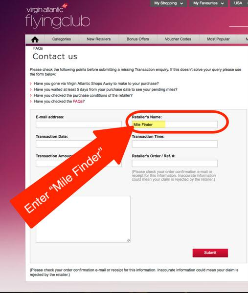 Get 500 Free Virgin Atlantic Miles