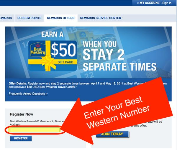 Get A $50 Gift Card After 2 Stays At Best Western