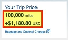 "Would cost 100,000 American Airlines miles + $1,181 in fuel surcharges/taxes/fees! Not exactly a ""free"" ticket!"