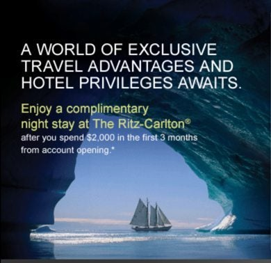 70,000 Ritz-Carlton Points & up to $400 in Statement Credits