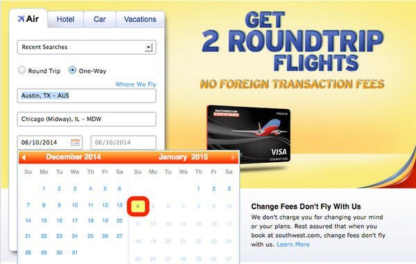 Book Holiday Travel Southwest And AirTran Schedule Open Through January 4, 2015
