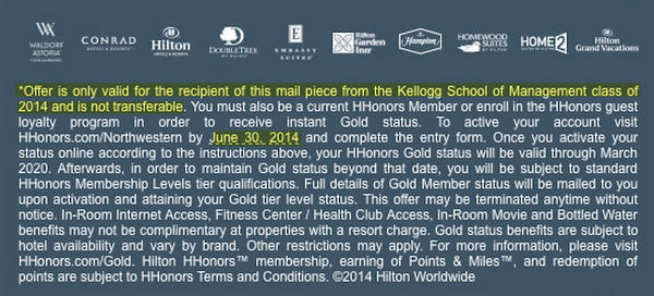 Free Hilton Gold Status For Business School Grads Up To 2020