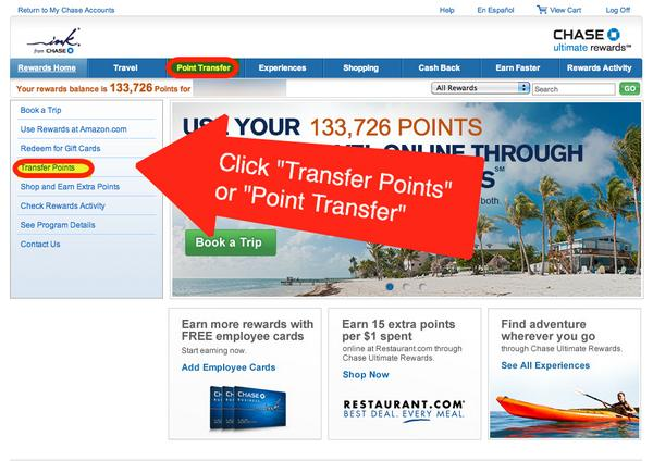 How To Transfer Chase Ultimate Rewards Points Earned From Chase Ink Cards To Southwest Airlines