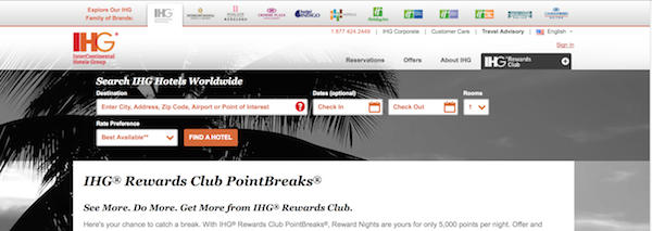 New PointBreaks List IHG Hotels For Just 5,000 Points 35 Per Night