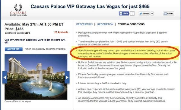 Today Only:  Save Money On Caesars Las Vegas Vacation Packages