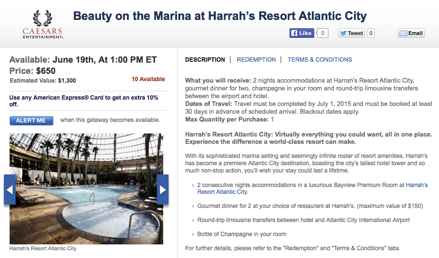 Stay 2 Nights in Atlantic City's Tallest Hotel for $650