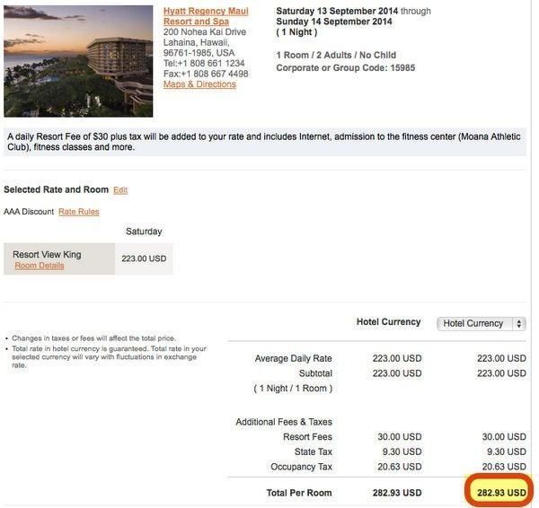 AAA Hotel Rates