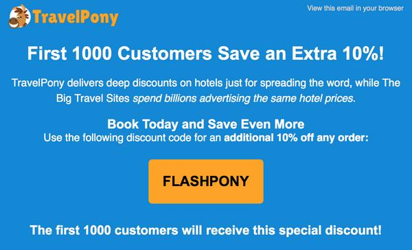 Act Quick! First 1,000 Customers Save 10% On Discounted Hotel Bookings With TravelPony