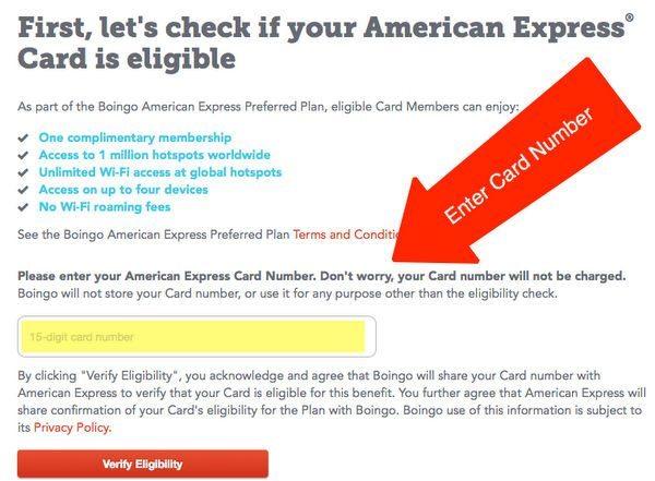 American Express Platinum Boingo