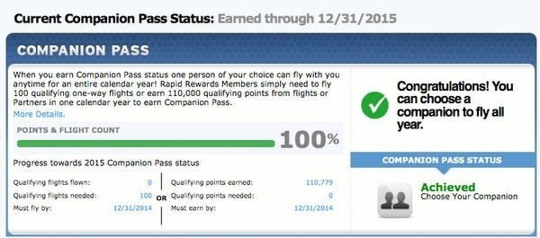 Can You Use 100,000 Points From The Southwest Cards For Travel If You Earn The Companion Pass