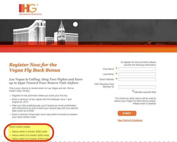 Earn Up To 350 Airfare Credit From IHG For Las Vegas Stay But Is It Worth It