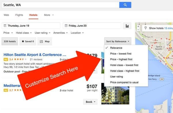Save Money Maybe And Time Using Google Hotel Finder