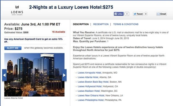 Today Only: Save Big Money At Luxury Loews Hotels