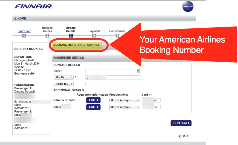 Step 6 – Get Your American Airlines Booking Number