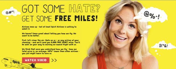 8000 Free Miles For Hating An Airline