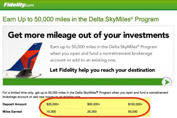Open An Account With Fidelity And Get 50,000 Delta Miles